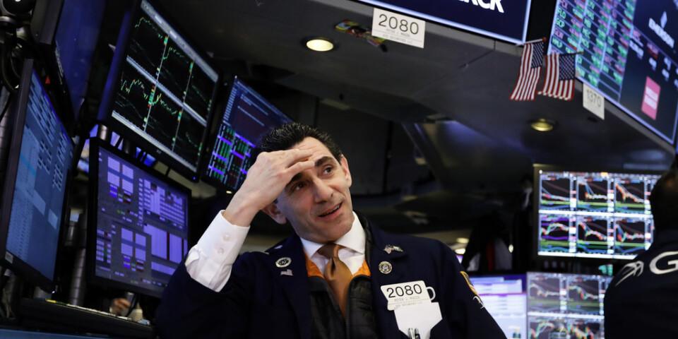 Kraftiga fall på Wall Street. Arkivbild.