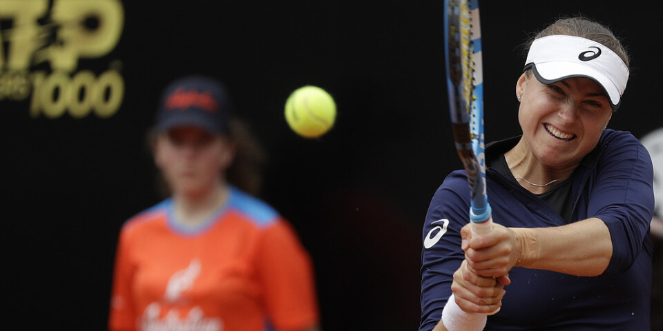 Rebecca Peterson visar fin form inför US Open – och ställs nu mot tjeckiska världstrean Karolina Pliskova i nästa omgång av Cincinnatis WTA-turnering. Arkivbild.