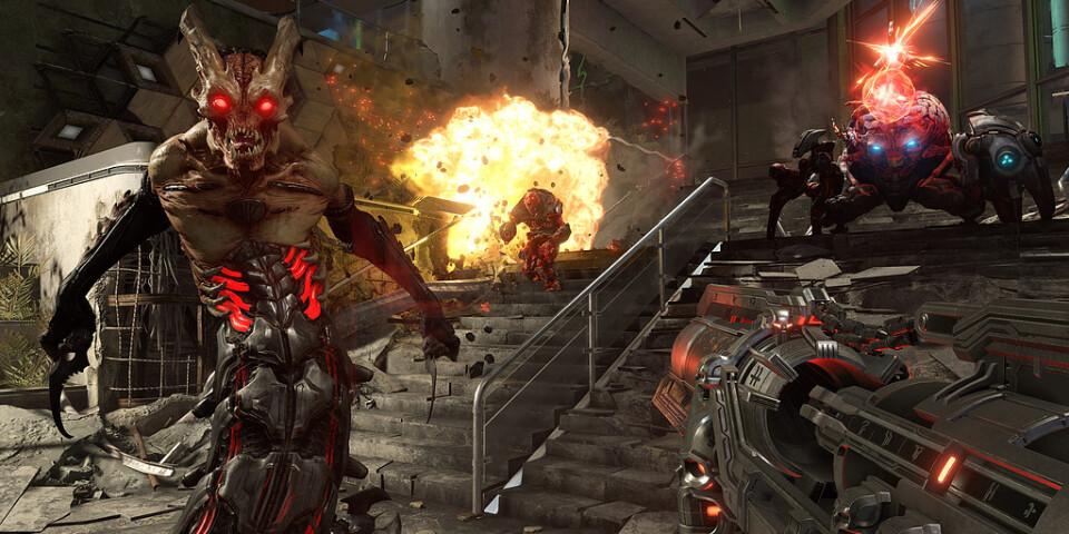 """Doom eternal"" skjuts upp. Pressbild."