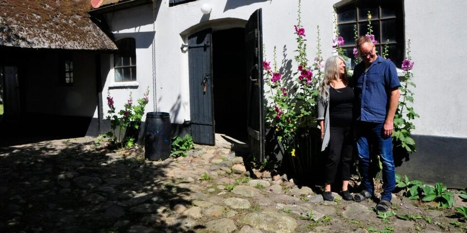 Sven Wickström och Anna-Mia Barwe på Hannas House.