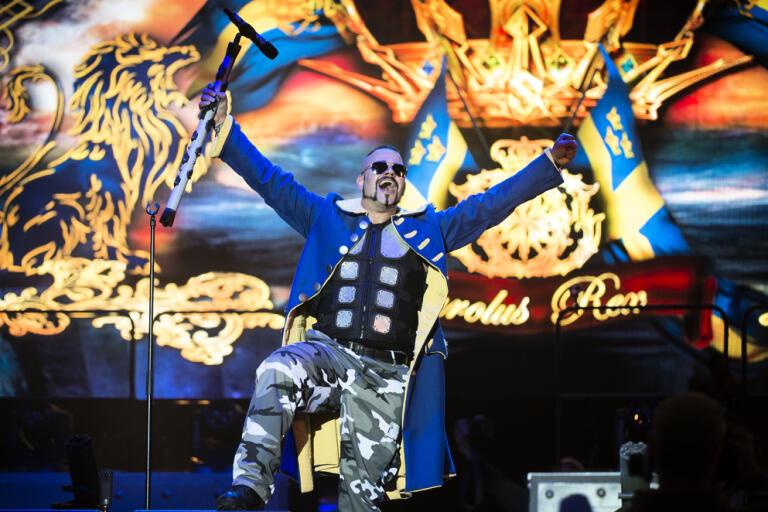 Sabaton ger sig ut på turné nästa år. Arkivbild från Sweden Rock.