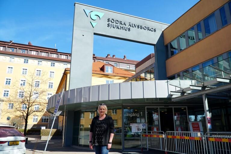 Christin tog ledigt från Skanska för att jobba på sjukhuset