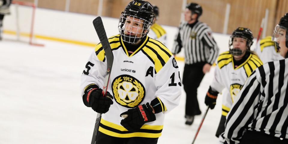 Lara Stalder gjorde två av målen när Brynäs vann över Djurgården. Arkivbild.