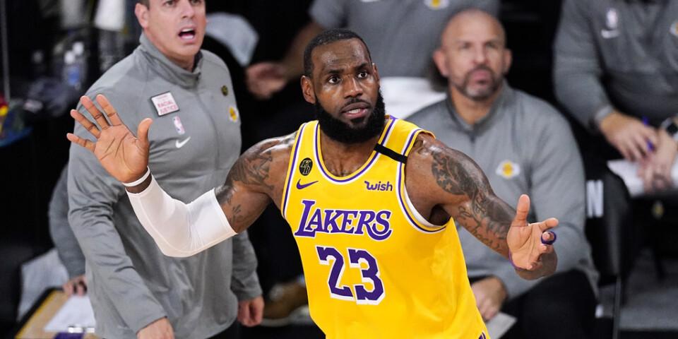 Los Angeles Lakers LeBron James under den fjärde NBA-semifinalen mot Denver.
