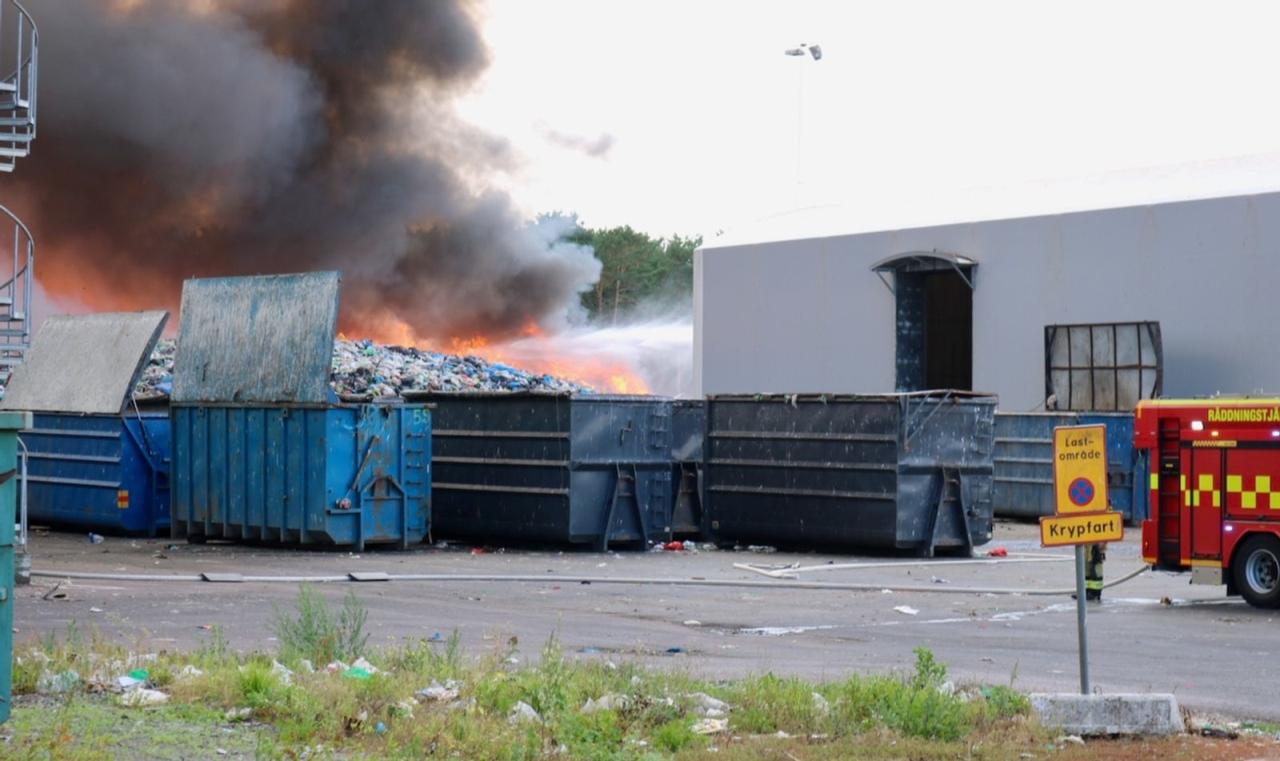 Kraftig brand på Moskogen.