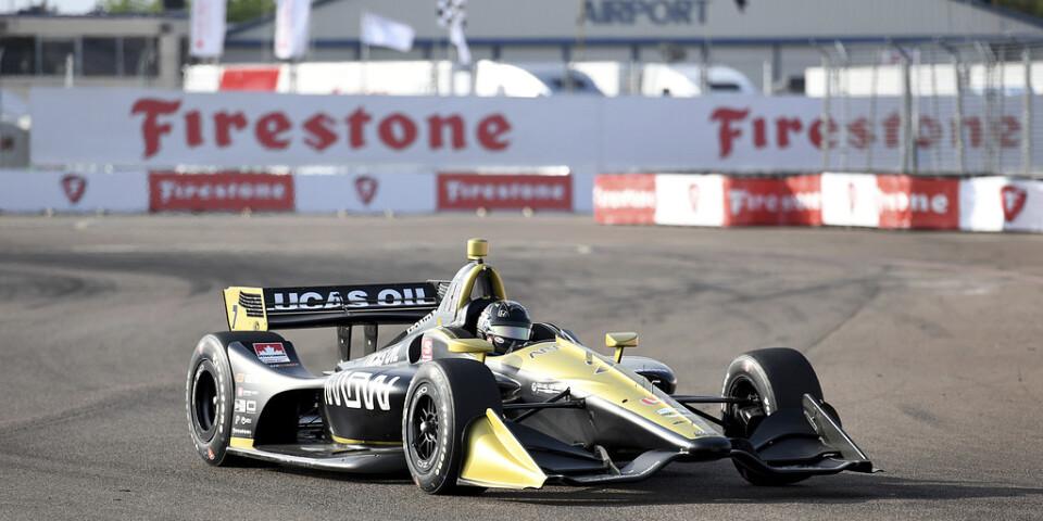 Marcus Ericsson i ett tidigare lopp.