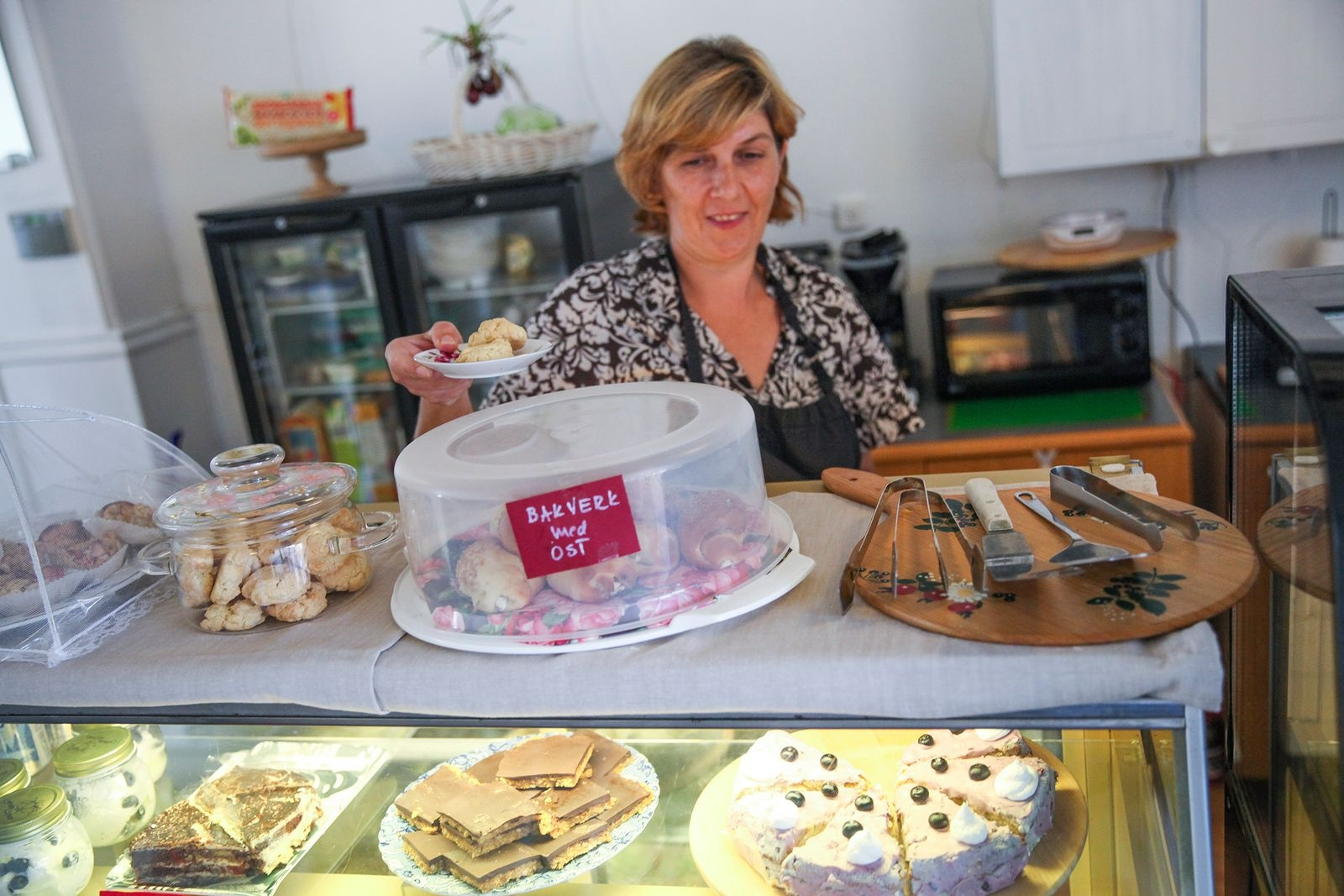 – Jag älskar att baka, säger Sasa som tidigare har jobbat på Café Madame Blå i Skåne Tranås.
