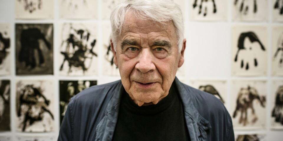 Gunnar Smoliansky vid en utställning på Moderna museet 2013. Arkivbild.