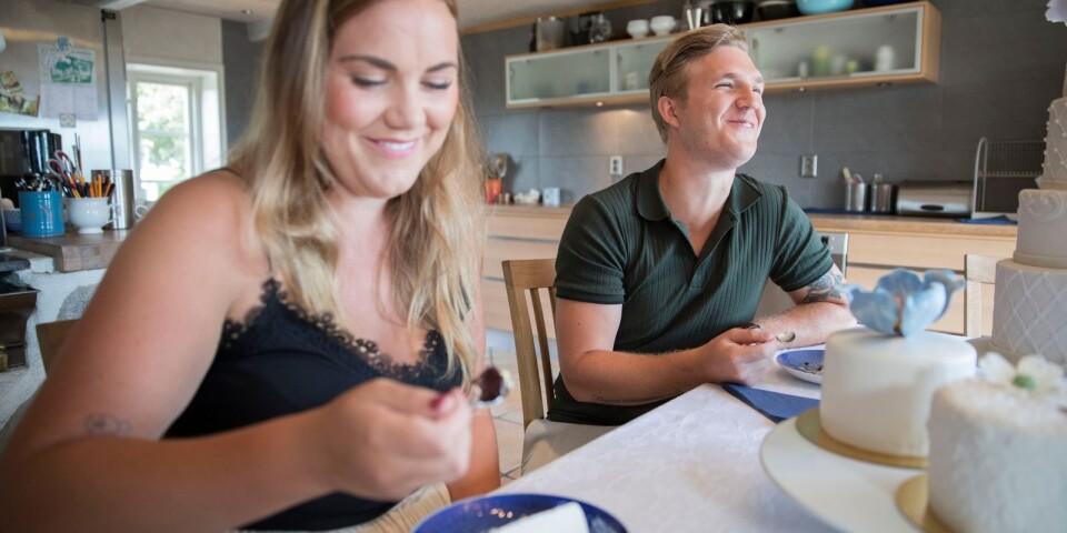 Christina Ekdahl och Jonas Nilsson är nöjda med smakerna men vill gärna ta lite från båda och lägga ihop.