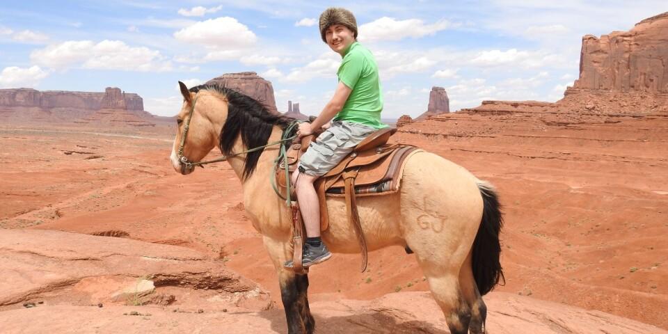 Semesterminnen i John Waynes fotspår: Johannes till häst i Monument Valley Arizona