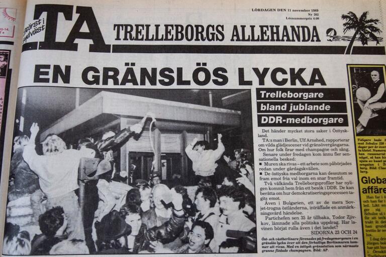 Trelleborgs Allehandas förstasida den 11 november 1989.