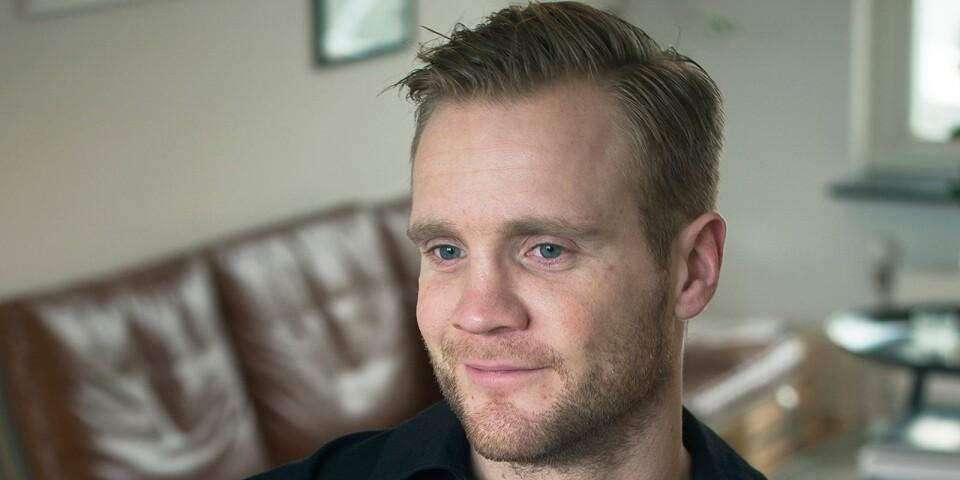Gunnar Steinn Jonsson och hans handbollskollega planerar att utveckla Bob med fler produkter.