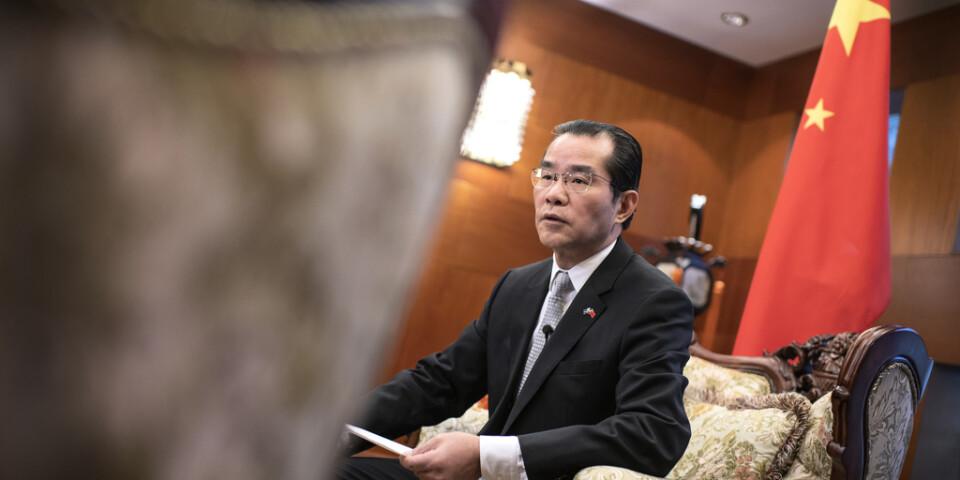 Kinas ambassadör i Sverige Gui Congyou.