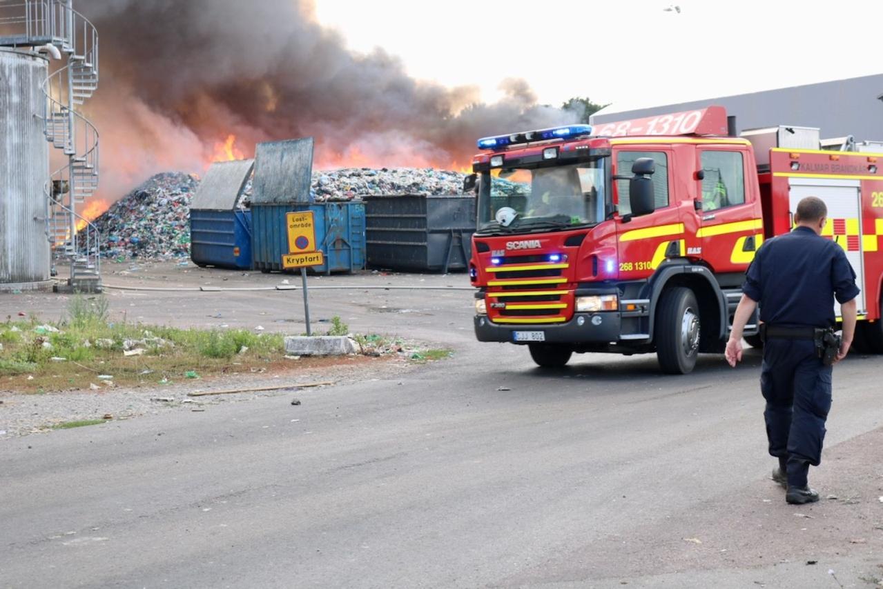 Kraftig brand på Moskogen