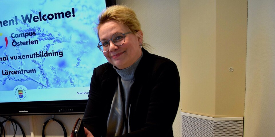 Marie Liljenberg, verksamhetschef för Campus Österlen, hoppas att det ska finnas 20 YH-utbildningar i Simrishamn med start nästa höst.