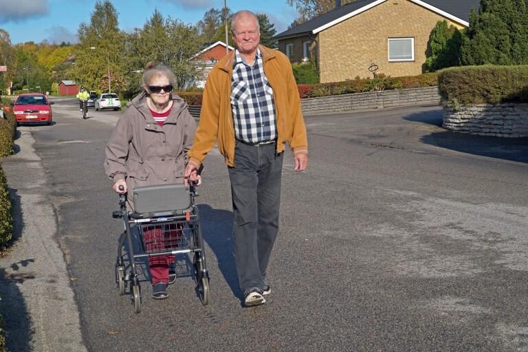 TV: Synskadad var isolerad i ett halvår – nu promenerar hon med Jan