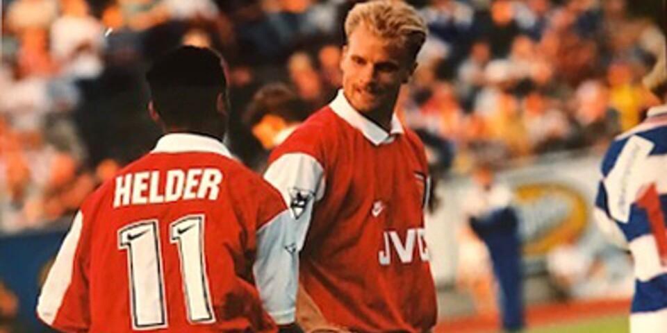 Dennis Bergkamp debuterade för Arsenal på Kristianstads IP.