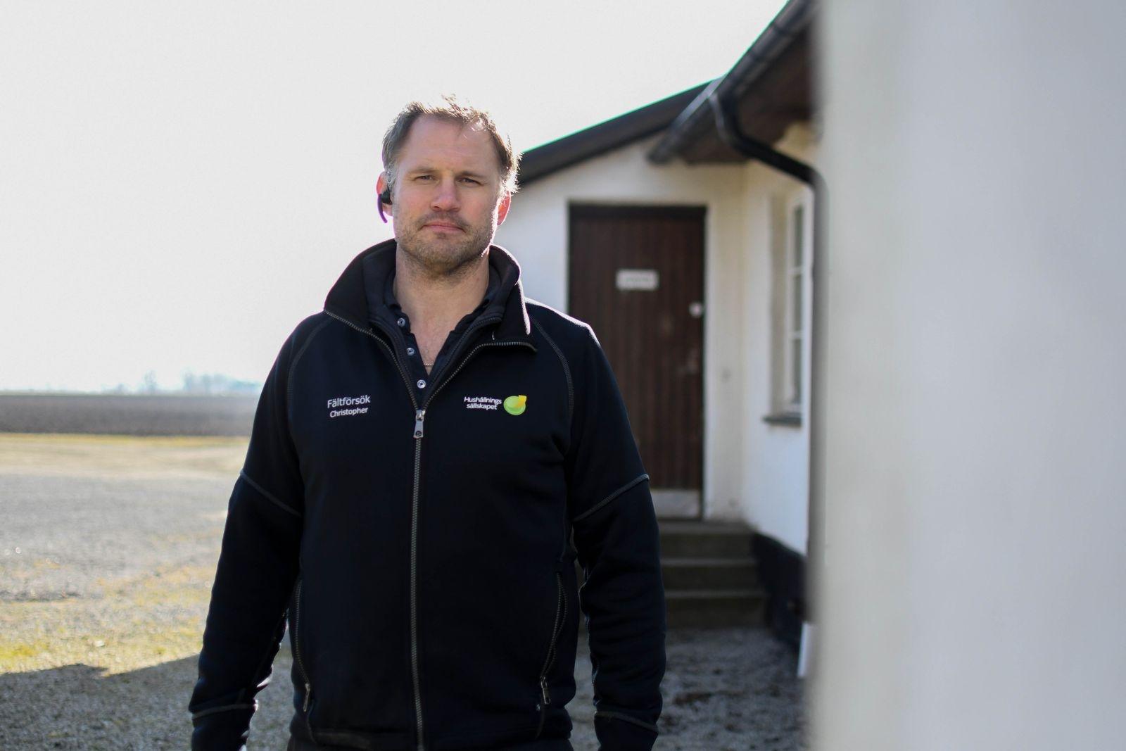Christopher Yngvesson är nytillträdd gårdsutvecklare för Sandby gård.
