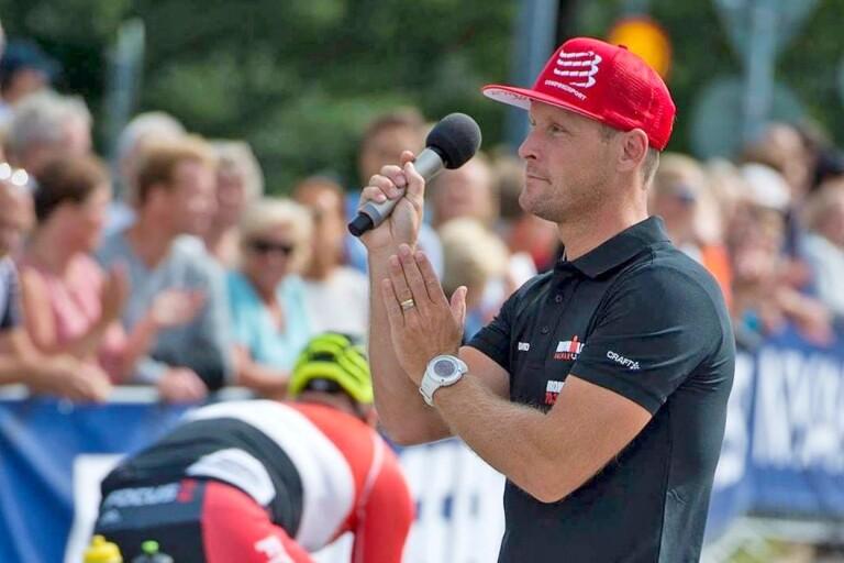 David Myrinder under Ironman-tävlingen ifjol.