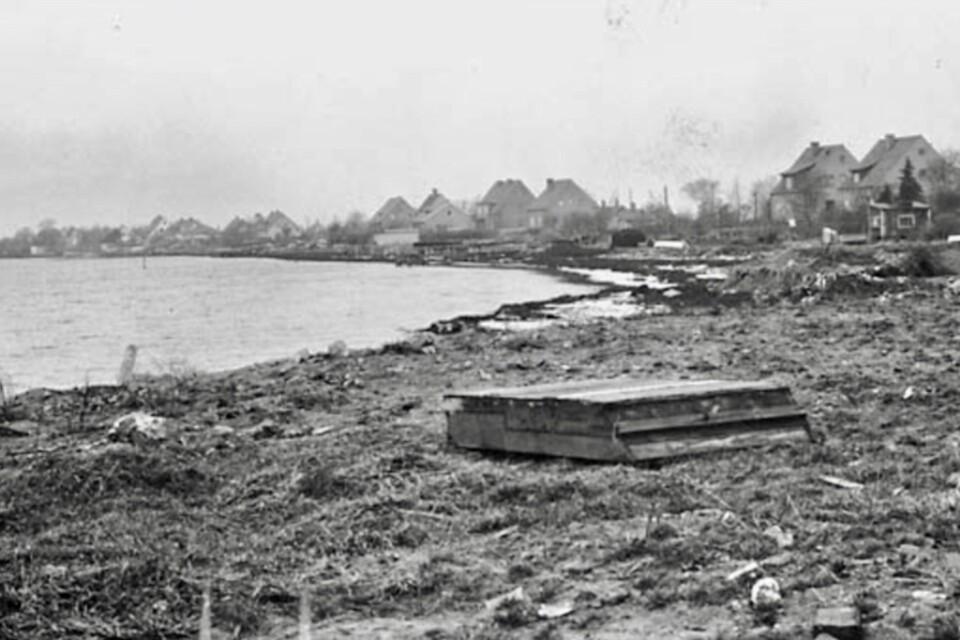 Västra Sjöstaden som det såg ut innan området fylldes ut på 1940-talet.