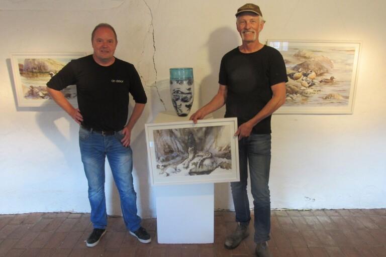 Akvarell och glas på Himmelsberga