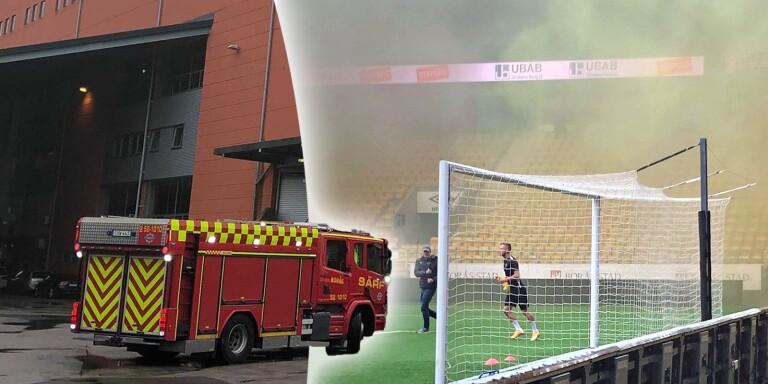 Het Karlsson tackades av – då gick brandlarmet