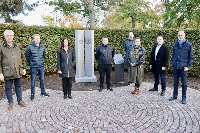 Nytt minnesmonument i Stadsparken premiärvisades
