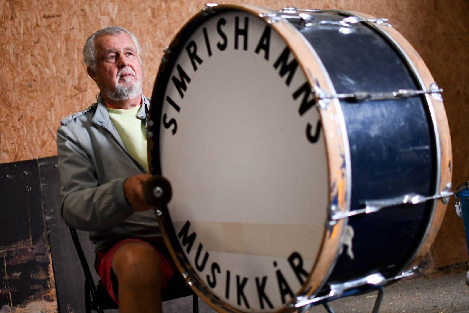 Simrishamns musikkår firade 40-årsjubileum 2018. Tomas Larsson är en av musikkårens trogna medlemmar.