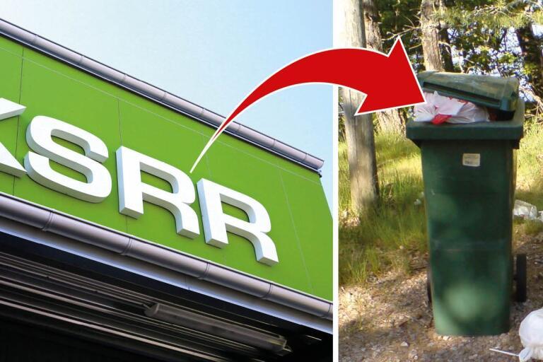 Namnet KSRR hamnar på soptippen.