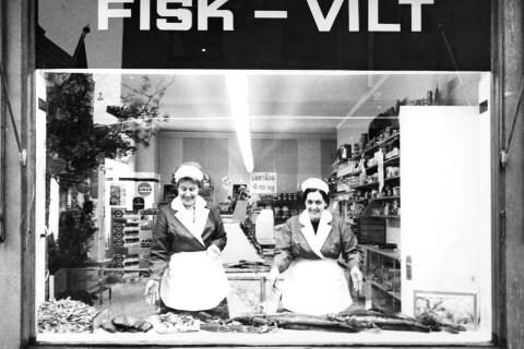 Fisk och frisörer – butiker i gamla centrum