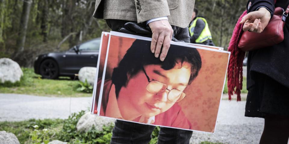 Måndagen den 4 maj hölls en stödmanifestation för Gui Minhai utanför Kinas ambassad i Stockholm.