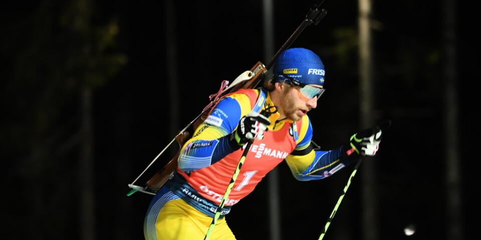 Sveriges Peppe Femling fick en tung start i stafetten i Hochfilzen, Österrike. Arkivbild.
