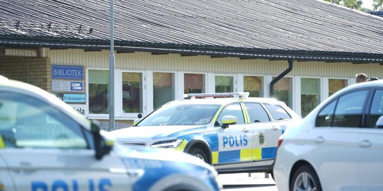 Bombhot mot skola i Braås