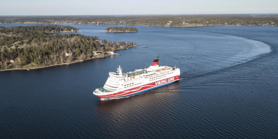 Ett Viking Line-fartyg har gått på grund utanför Åland. Arkivbild.
