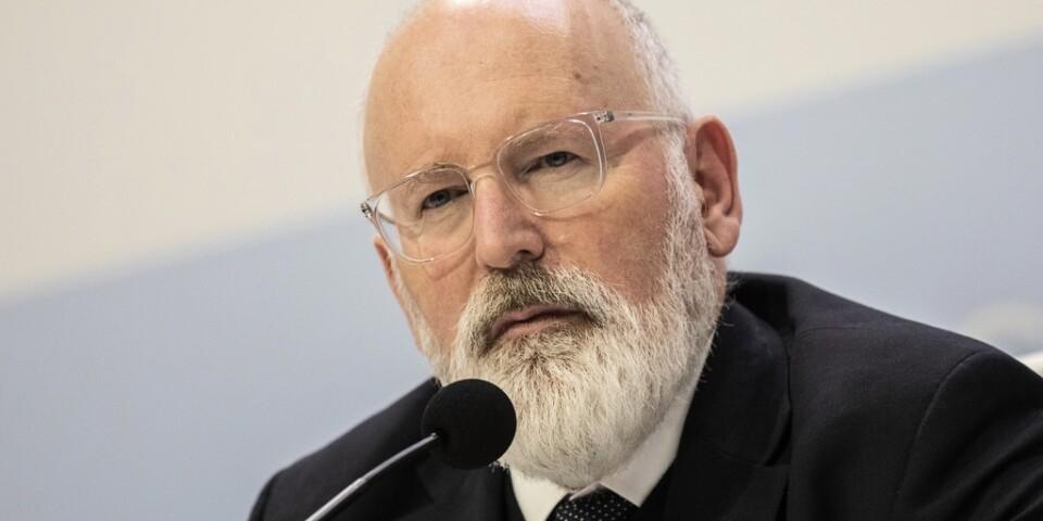 EU:s klimatkommissionär Frans Timmermans kräver skarpare formuleringar i slutdokumentet.
