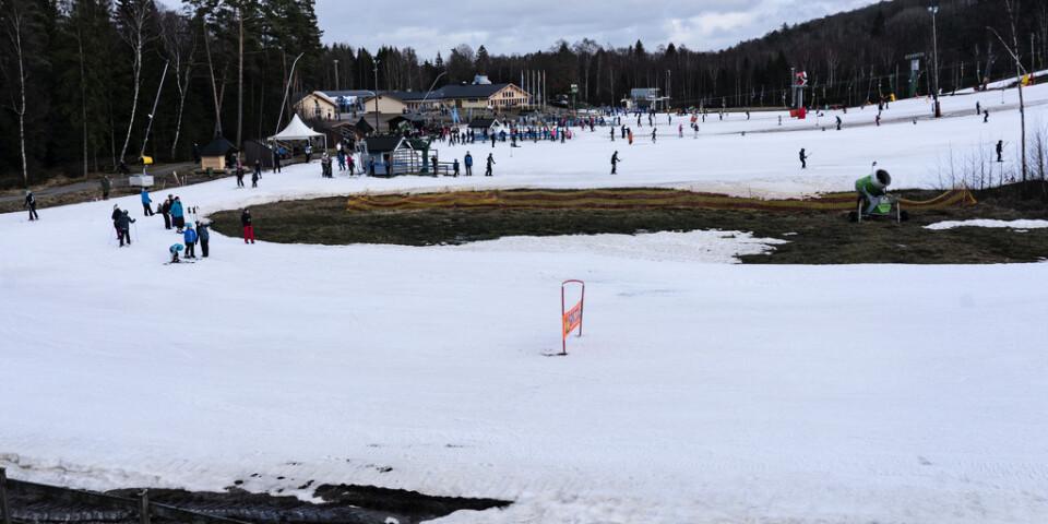 Vallåsens skidanläggning vid Hallandsåsen utanför Våxtorp i februari förra året. Arkivbild.
