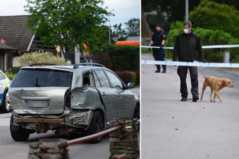 Tre män anhållna efter skottlossning – flera fordon inblandade