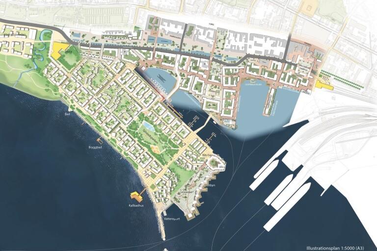 Så här kan kuststaden se ut – kallbadhus och tusentals bostäder