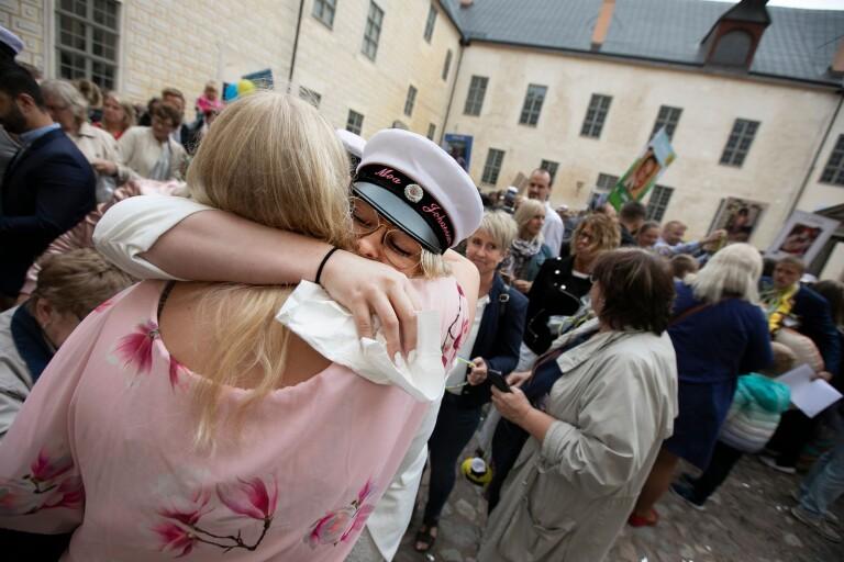"""Efter utspringet på slottet: """"Väldigt känslosamt"""""""