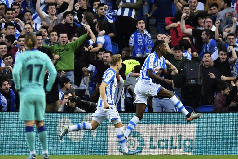 Alexander Isaks Real Sociedad låg på fjärde plats i spanska La Liga när coronakrisen slog till. Arkivbild.