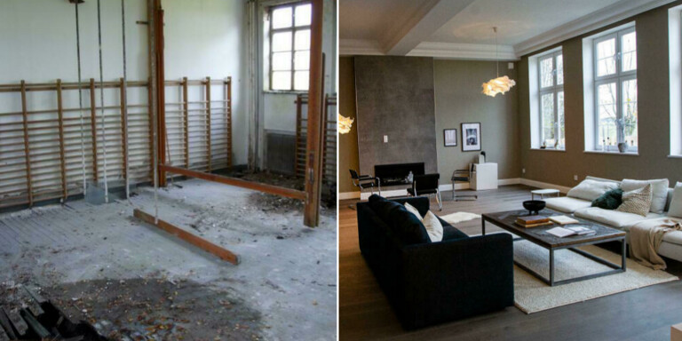 Efter förvandlingen – nu är skolan till salu som bostad
