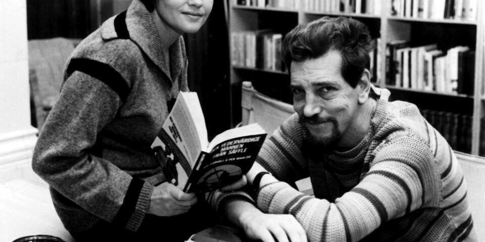 Maj Sjöwall och sambon Per Wahlöö gav 1965–1975 ut tio böcker om polisen Martin Beck. Arkivbild.