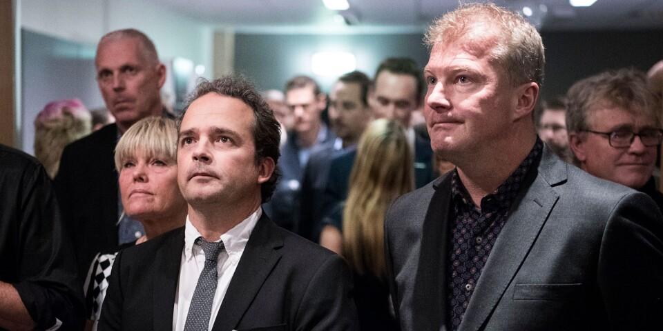 Kommunchefen Christer Kratz och Eddie Hansson, kommunens färske näringslivsutvecklare.