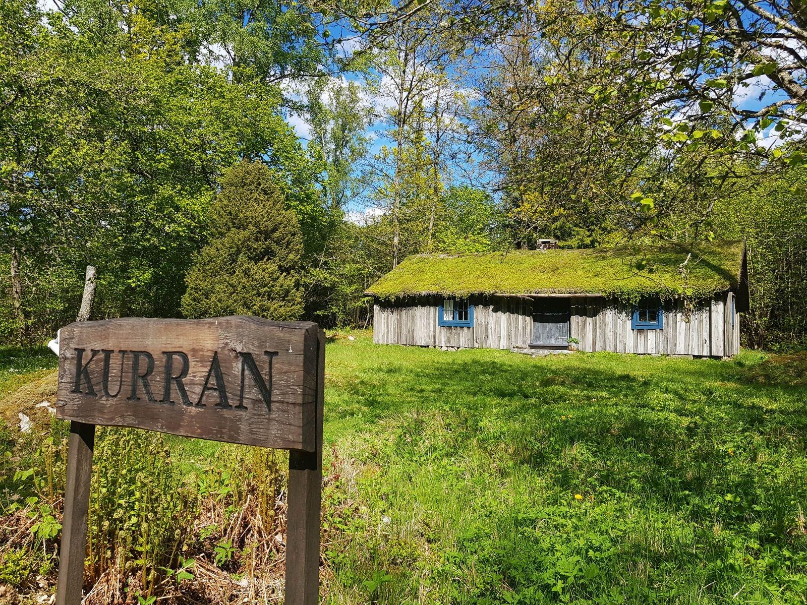 Ryggåsstugan Kurran ligger utanför Vrankunge och härstammar från 1700-talet.