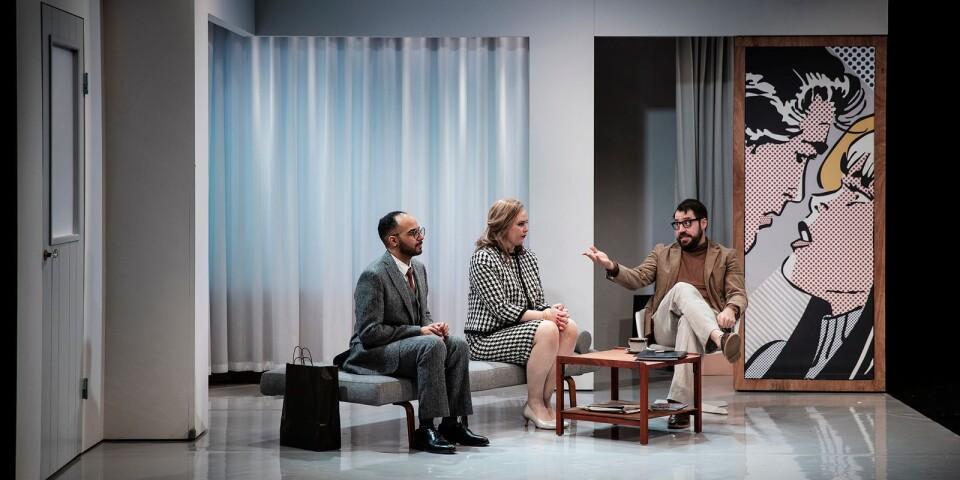 Paret Frank (Magdi Saleh) och Susan (Linn Mildehav) går på parterapi hos psykologen Andrew (Johannes Wanselow).