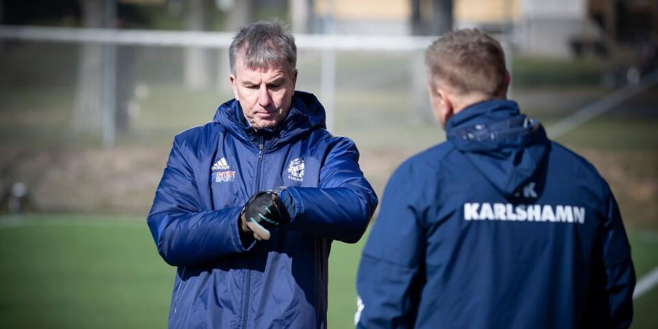 Paul Scott, tränare i IFK Karlshamn.