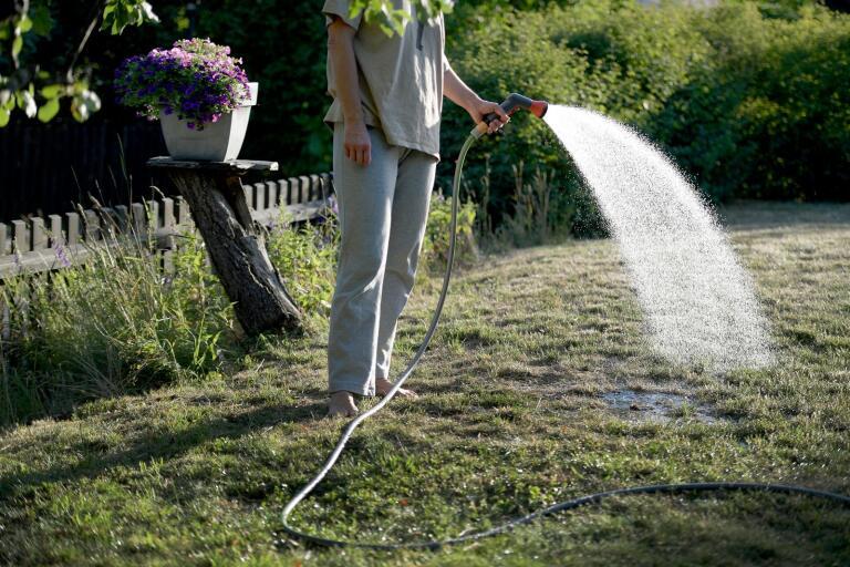 Trelleborgarna uppmanas att hushålla med vattnet. Arkivbild.