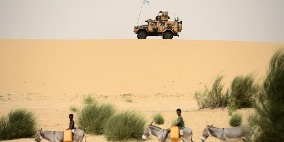 Den nuvarande svenska styrkan i Mali lyder under FN:s insats Minusma. Arkivbild.