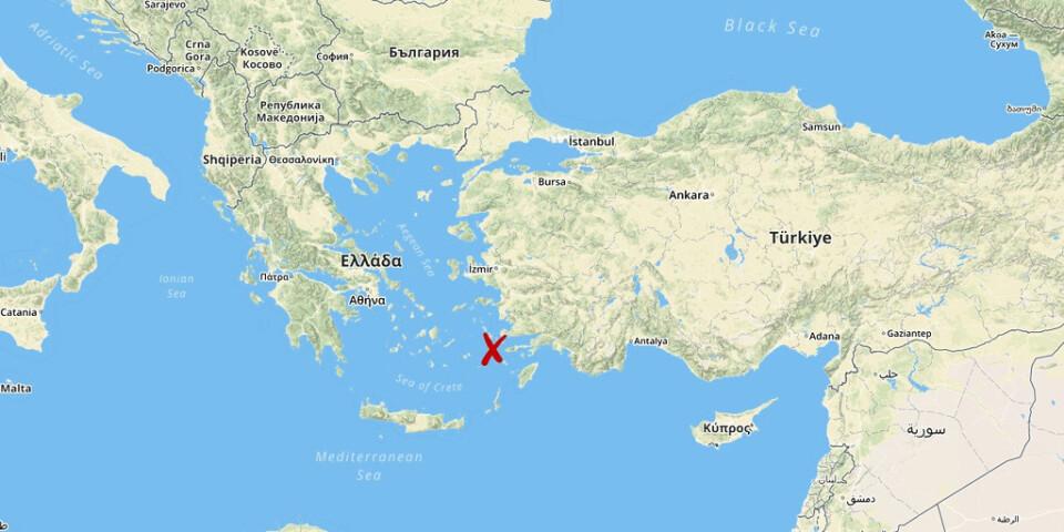 Olyckan skedde i närheten av den grekiska ön Kos.