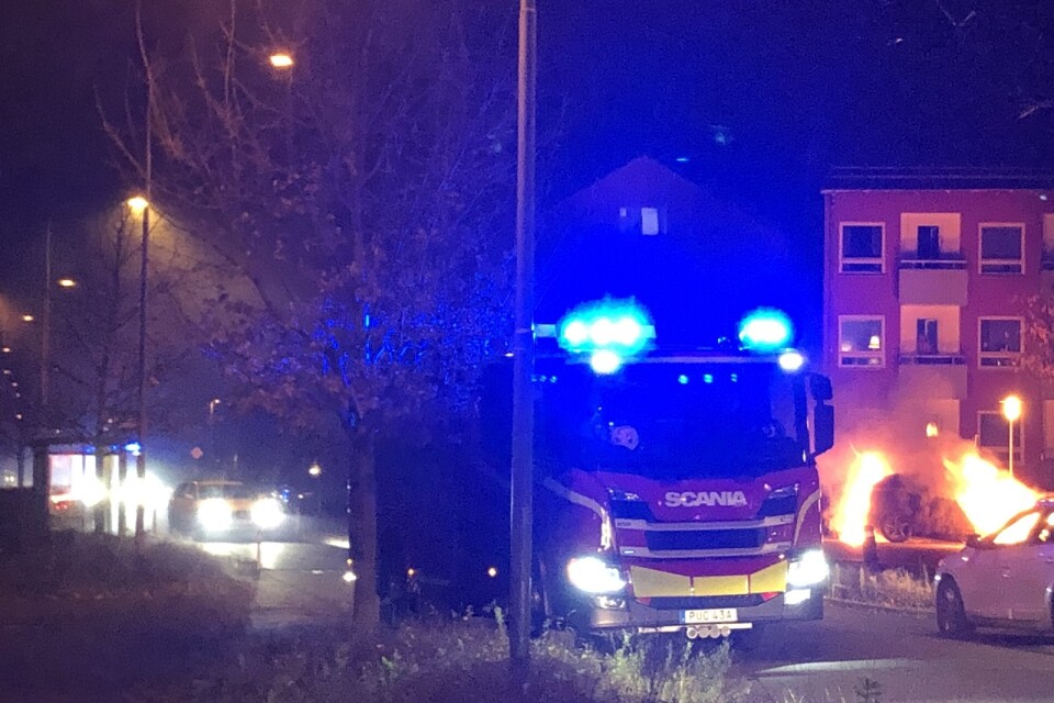 The alarm about the fire on Näsbychaussén came at 6.28 pm.